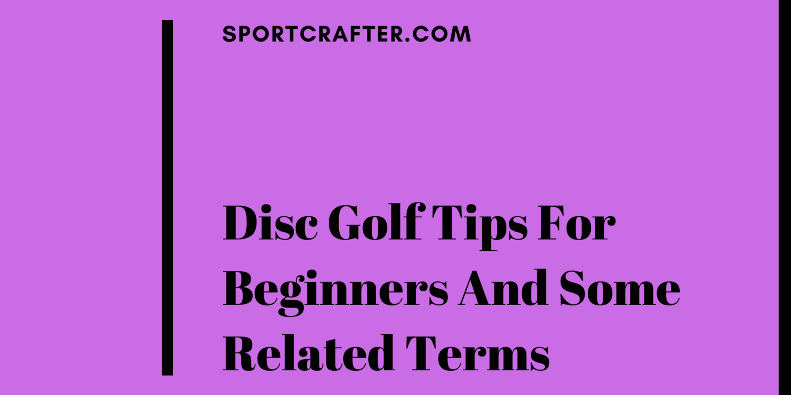 Disc Golf Tips For Beginners